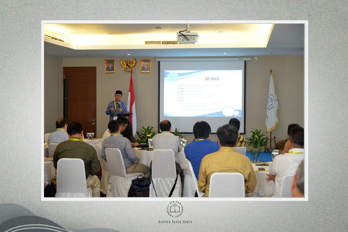 Publisher Institutes 2019 Welcome to the Indonesian Bible Society