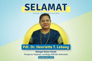 Pdt. Dr. Henriette Tabita Lebang Perempuan Pertama yang Menjabat Ketua Umum Lembaga Alkitab Indonesia (LAI)