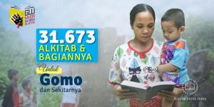 31.673 Alkitab dan Bagian-bagiannya untuk Gomo dan sekitarnya
