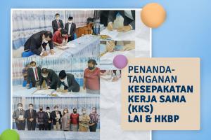 Penandatanganan Kesepakatan Kerja Sama (KKS) LAI dan HKBP